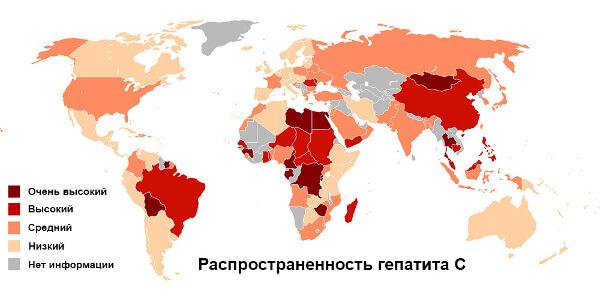 Территориальная распространенность гепатита С